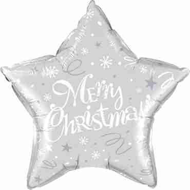 merry christmas! festive silver foil star 20in/50cm