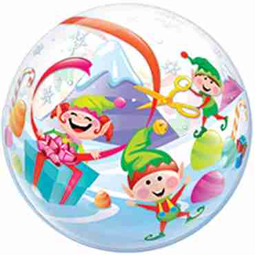 Merry Elves Single Bubble 22in/55cm