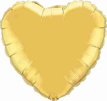 Metallic Gold Foil Heart 4in/10cm