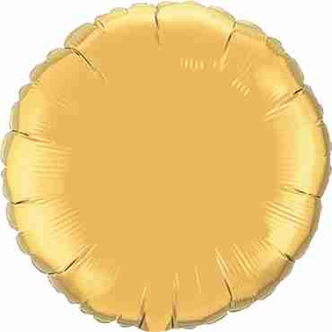 Metallic Gold Foil Round 4in/10cm