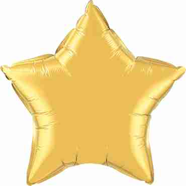 Metallic Gold Foil Star 36in/90cm