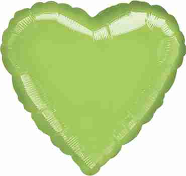 Metallic Lime Green Foil Heart 18in/45cm