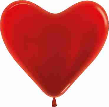 Metallic Red Latex Heart 14in/36cm