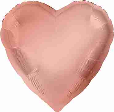 Metallic Rose Gold Foil Heart 17in/43cm