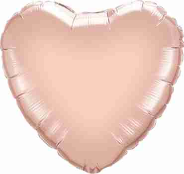 Metallic Rose Gold Foil Heart 9in/22.5cm