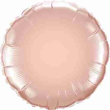 Metallic Rose Gold Foil Round 18in/45cm