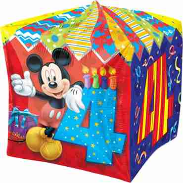 Mickey Mouse Age 4 Cubez 15in/38cm x 15in/38cm
