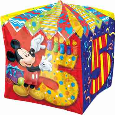 Mickey Mouse Age 5 Cubez 15in/38cm x 15in/38cm