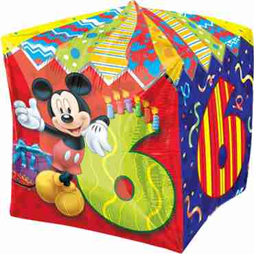 mickey mouse age 6 cubez 15in/38cm x 15in/38cm