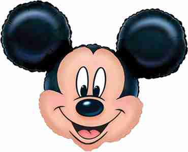 Mickey Mouse Head Foil Shape 27in/69cm x 21in/53cm