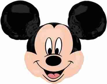 Mickey Mouse Head Mini Vendor Foil Shape 14in/35cm