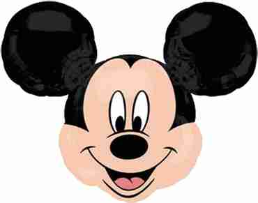Mickey Mouse Head Vendor Foil Shape 21in/53cm x 21in/53cm
