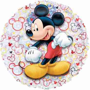 Mickey Mouse Holographic Vendor Foil Round 21in/53cm