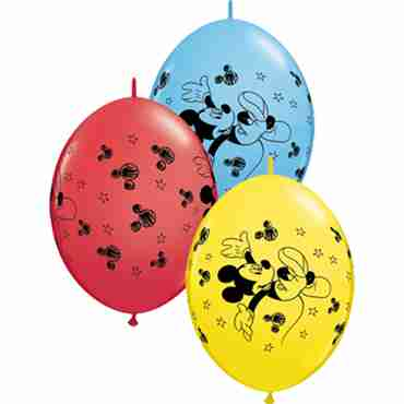 Mickey Mouse Standard Red, Standard Yellow and Standard Pale Blue Assortment QuickLink 12in/30cm