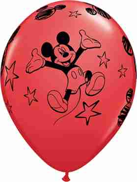 mickey standard red latex round 11in/27.5cm