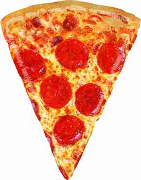 Mighty Pizza Foil Shape 30in/76cm