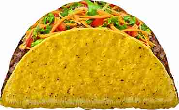 Mighty Taco Foil Shape 30in/76cm