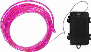 Mini-Rope,pink,total Length 550cm,100LED,excl.Battery