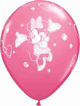 Minnie Fashion Rose Latex Round 11in/27.5cm