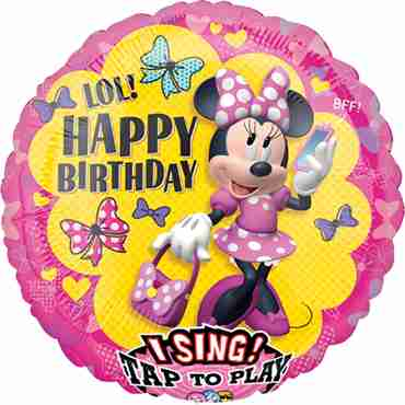 Minnie Happy Helper HBD Sing A Tune Foil Round 28in/71cm