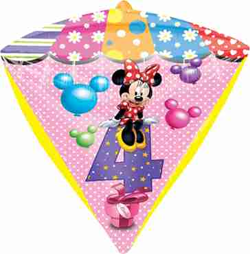 minnie mouse age 4 diamondz 15in/38cm x 17in/43cm