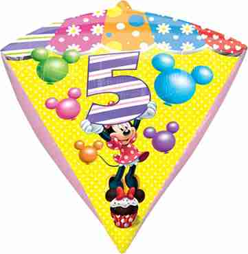 minnie mouse age 5 diamondz 15in/38cm x 17in/43cm