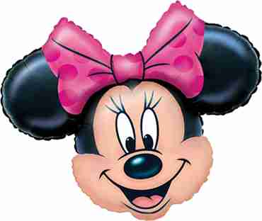 minnie mouse head foil shape 28in/71cm x 23in/58cm