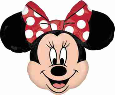minnie mouse head vendor foil shape 21in/53cm x 21in/53cm