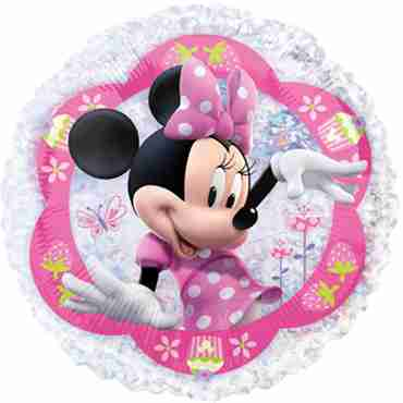 minnie mouse holographic vendor foil round 21in/53cm