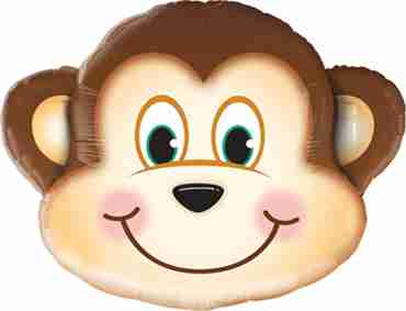 Mischievous Monkey Foil Shape 14in/35cm