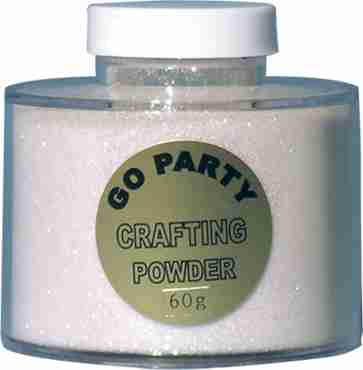 Mixed White Iridescent Glitter Pot 60g