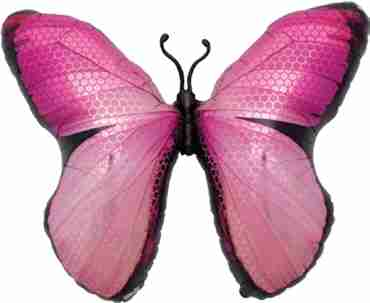 monarch pink foil shape 31in/79cm