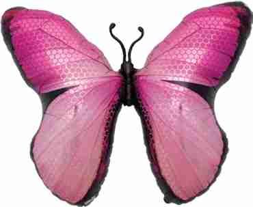 Monarch Pink Foil Shape 31in/79cm