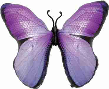 monarch purple foil shape 31in/79cm