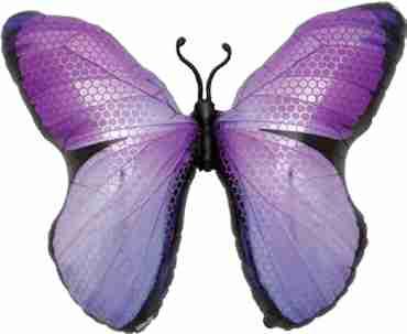 Monarch Purple Foil Shape 31in/79cm
