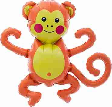 Monkey Foil Shape 14in/35cm