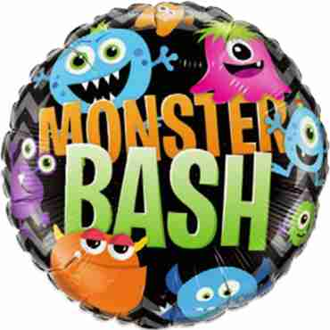 Monster Bash Chevron Foil Round 18in/45cm