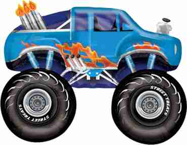 monster truck - blue vendor foil shape 24in/60cm x 24in/60cm