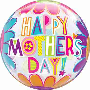 Mother's Day Big Flowers Single Bubble 22in/50cm