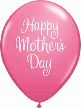 Mother's Day Classy Script Fashion Rose Latex Round 11in/27.5cm