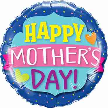 Mothers Day Emblem Banner Foil Round 18in/45cm