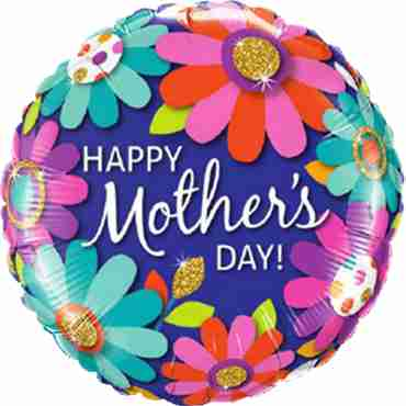 Mother's Day Fashion Floral Foil Round 18in/45cm