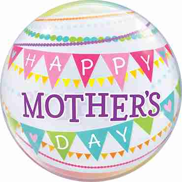 Mothers Day Pennants Single Bubble 22in/50cm