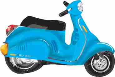 motor scooter - blue vendor foil shape 24in/60cm x 24in/60cm