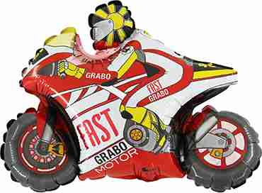 Motorbike Red Foil Shape 30in/75cm
