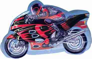 Motorcycle Vendor Foil Shape 27in/65cm x 16in/41cm