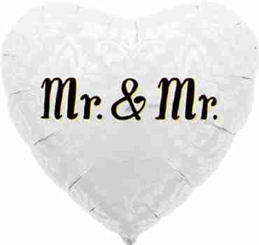 Mr. & Mr. Foil Heart 18in/45cm