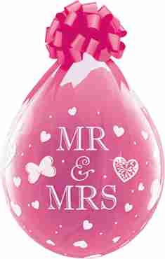 Mr and Mrs Crystal Diamond Clear (Transparent) Latex Round 18in/45cm