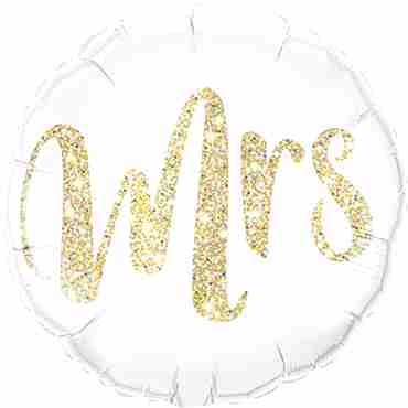 Mrs Glitter Gold Foil Round 18in/45cm