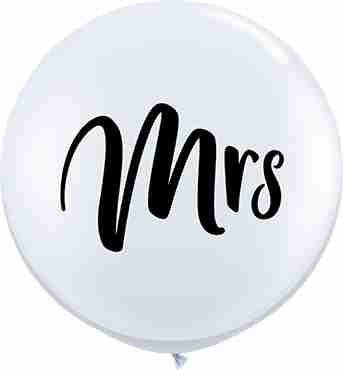Mrs Standard White Latex Round 36in/90cm